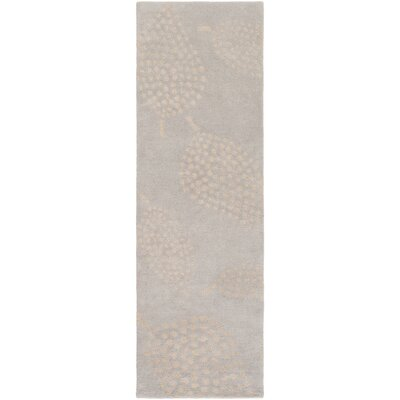 Decorativa Hand-Tufted Gray/Neutral Area Rug Rug Size: Runner 26 x 8