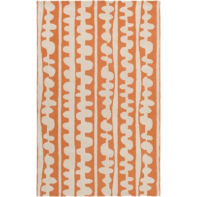 Decorativa Hand-Tufted Orange/Neutral Area Rug Rug Size: 5 x 8
