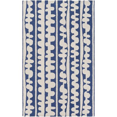 Decorativa Hand-Tufted Blue/Neutral Area Rug Rug Size: 33 x 53