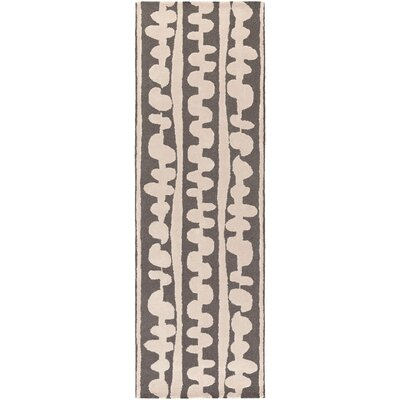 Decorativa Hand-Tufted Brown/Neutral Area Rug Rug Size: Runner 26 x 8
