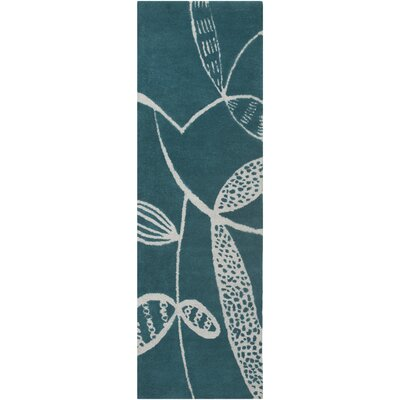 Decorativa Hand-Tufted Blue/Gray Area Rug Rug Size: Runner 26 x 8
