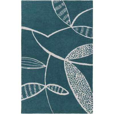 Decorativa Hand-Tufted Blue/Gray Area Rug Rug Size: Rectangle 33 x 53
