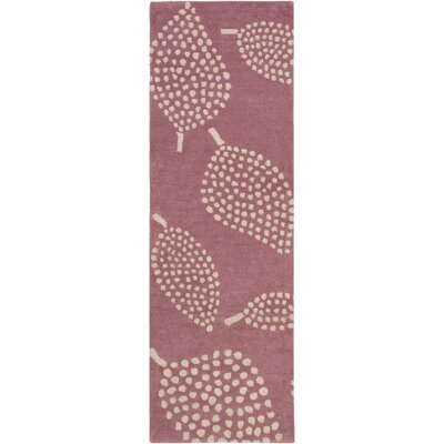 Decorativa Hand-Tufted Purple/Neutral Area Rug Rug Size: Runner 26 x 8