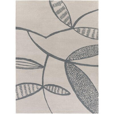 Decorativa Hand-Tufted Gray/Black Area Rug Rug Size: Rectangle 8 x 11