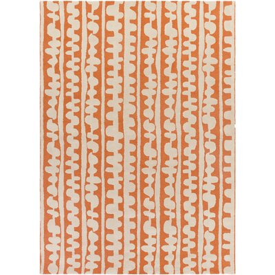 Decorativa Hand-Tufted Orange/Neutral Area Rug Rug Size: Rectangle 8 x 11