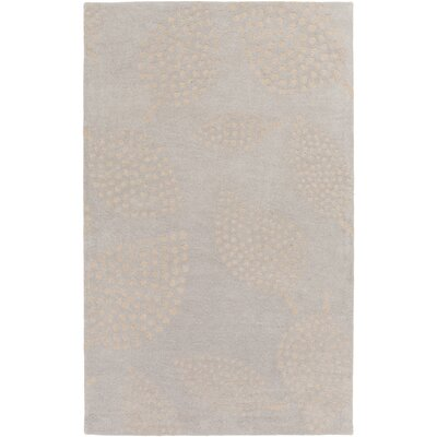 Decorativa Hand-Tufted Gray/Neutral Area Rug Rug Size: 5 x 8