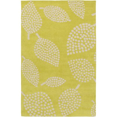 Decorativa Hand-Tufted Green/Neutral Area Rug Rug Size: 2 x 3
