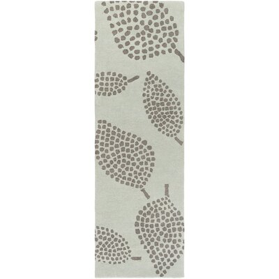 Decorativa Hand-Tufted Gray Area Rug Rug Size: Runner 26 x 8