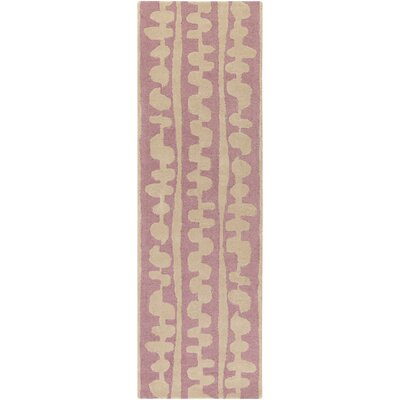 Decorativa Hand-Tufted Pink/Neutral Area Rug Rug Size: Runner 26 x 8