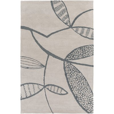 Decorativa Hand-Tufted Gray/Black Area Rug Rug Size: 33 x 53