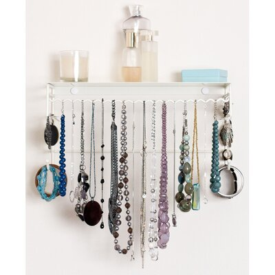 19-Piece Naya Jewelry Armoire Set in White, BelleDangles