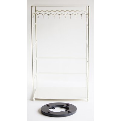 Free Standing Jewelry Armoire Color: White