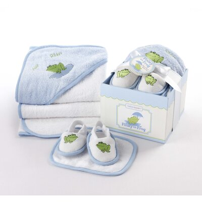 4-Piece Bathtime Gift Set Color / Pattern: Blue / Finley the Frog