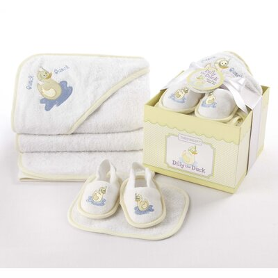 4-Piece Bathtime Gift Set Color / Pattern: Yellow / Dilly the Duck