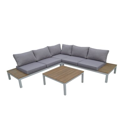 Celio 4 Piece Sectional Seating Group with Cushions