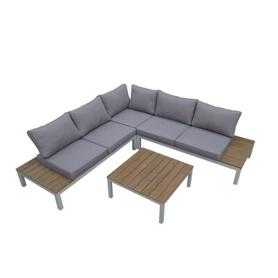 Calanthe 4 Piece Sectional Seating Group with Cushion