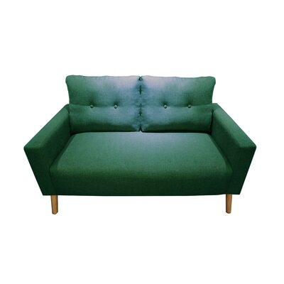 Ramsdell Mid Century Modern Loveseat Upholstery : Spruce