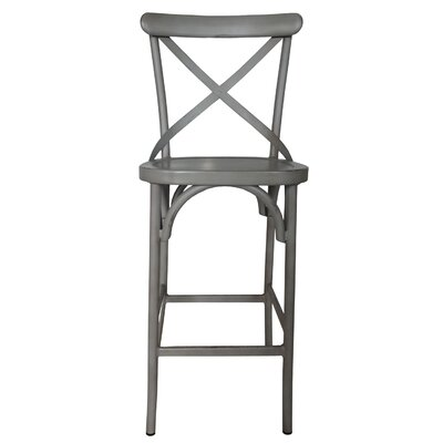 Plyler 30 Bar Stool Color: Vintage Gray