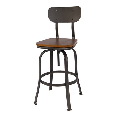 Garon Adjustable Height Swivel Bar Stool