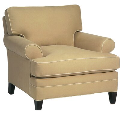 Loose Pillow Back Armchair Color: Lindy Kiwi