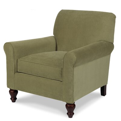 Tight Back Loose Seat Arm Chair Color: Bayliner Lichen