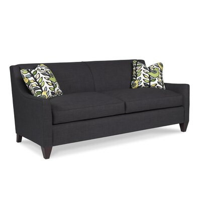 Tapered Arm Two Seat Sofa Upholstery: Dune Spa, Toss Pillow Color: Dune Spa, Nailhead: Black Nickel