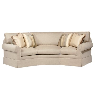 Curved Back Conversation Sofa Upholstery: Snap Oyster, Toss Pillow Color: Snap Oyster