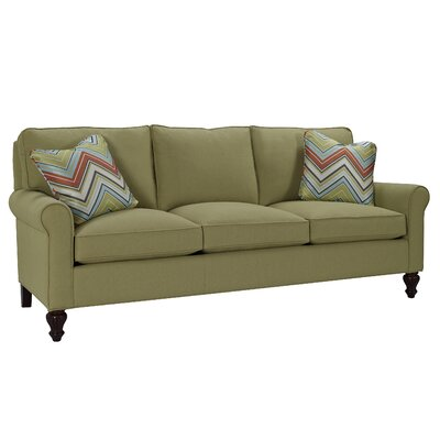 Curved Arm Three Loose Pillow Back Sofa Upholstery: Beau Hemp, Toss Pillow Color: Beau Hemp
