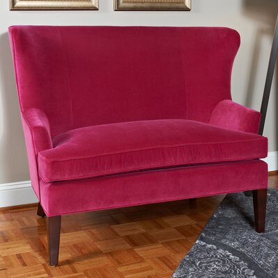 Tight Back Winged Settee Upholstery: Banks Organza