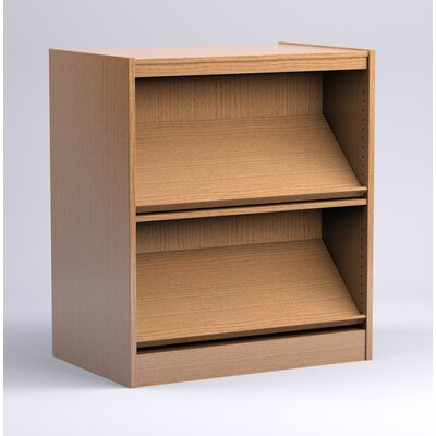 Stately Series Double Face Periodical Starter Shelf Standard Bookcase Finish: Medium Oak, Size: 82