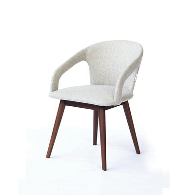Arnold Upholstered Dining Chair Upholstery Color: Gray