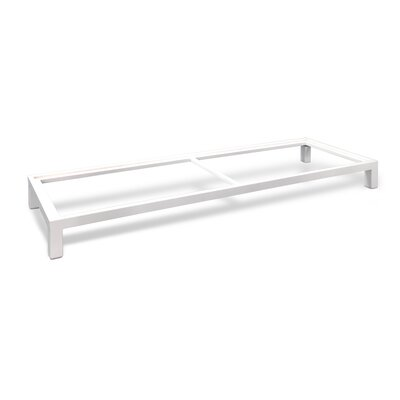Stack Metal Base Finish: White, Size: 73 W