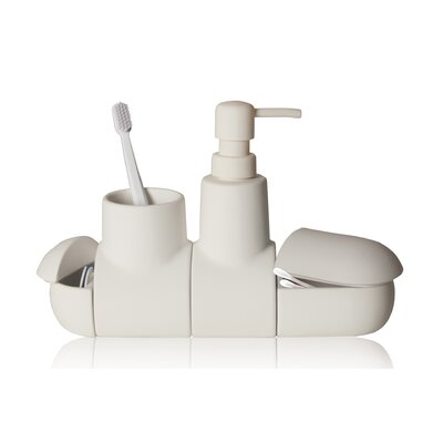Submarino Porcelain Bathroom Accessory Set Color: White 10696 BIA