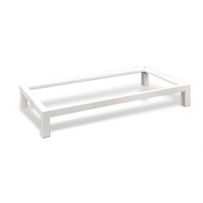 Stack Metal Base Size: 37.4 W, Finish: White