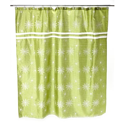 Daisy Stitch Shower Curtain Color: Lime