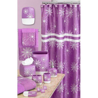 Daisy Stitch Shower Curtain Color: Lilac