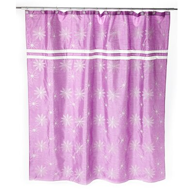 Daisy Stitch Shower Curtain Color: Purple