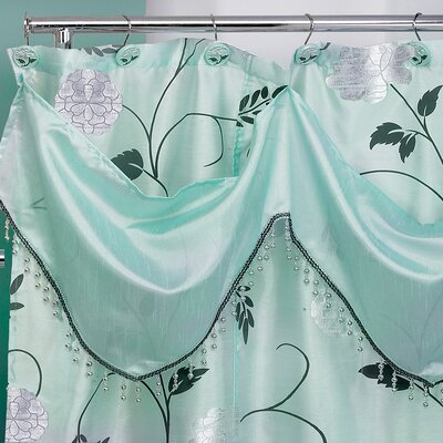 Avanti Shower Curtain Color: Aqua