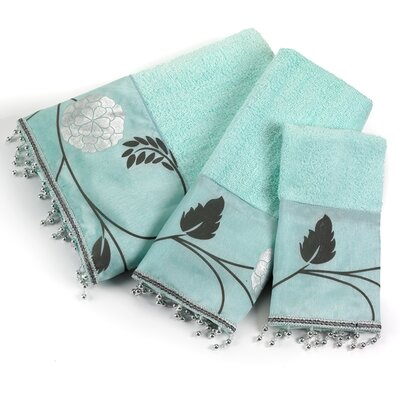 Avantie 3 Piece Towel Set Color: Aqua