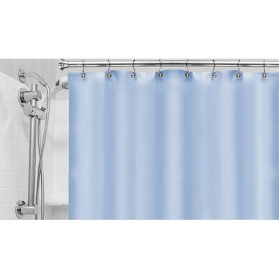Vinyl Hotel Shower Curtain Liner Color: Blue