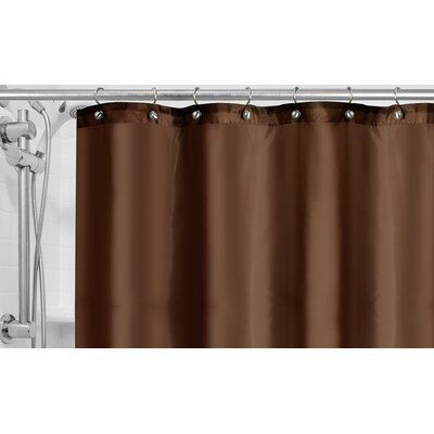Burban Shower Curtain Liner Color: Chocolate
