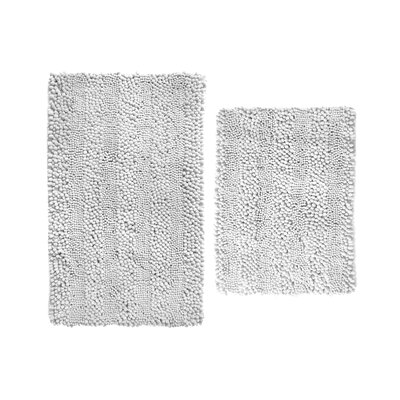 Aldante Chenille 2 Piece Rug Set Color: White