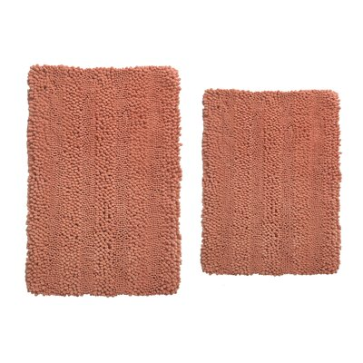 Aldante Chenille 2 Piece Rug Set Color: Cinnamon