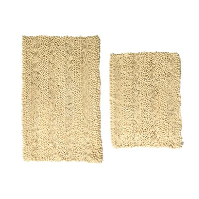 Aldante Chenille 2 Piece Rug Set Color: Butter Cream