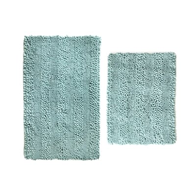 Aldante Chenille 2 Piece Rug Set Color: Aquifier