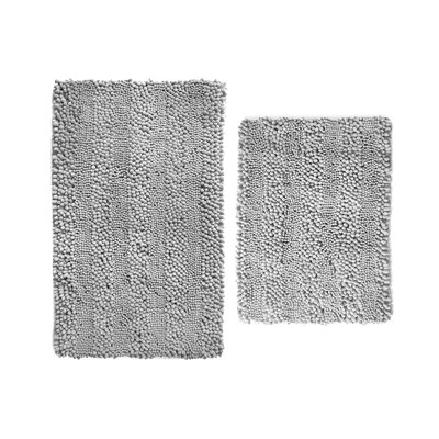 Aldante Chenille 2 Piece Rug Set Color: Grey
