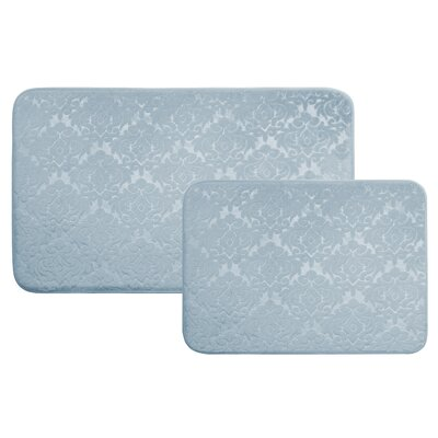 Medallion 2 Piece Bath Rug Set Color: Aqua