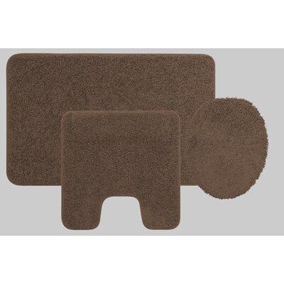 Manchester 3 Piece Bath Rug Set Color: Chocolate