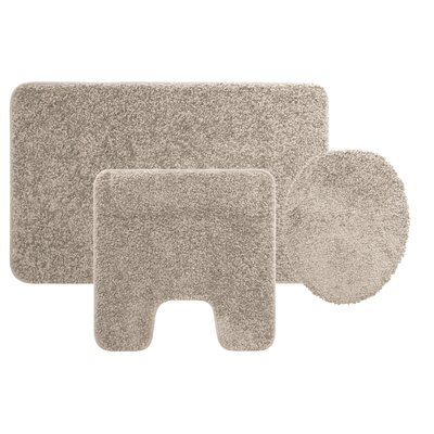 Manchester 3 Piece Bath Rug Set Color: Grey