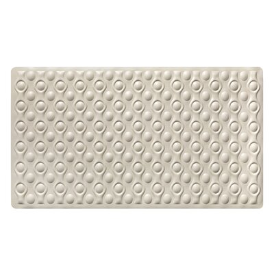 Marci Rubber Bath Mat Color: Beige
